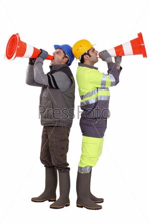 Фотография на тему Мужчины на строительстве