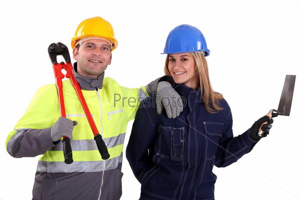 Фотография на тему Мужчина и женщина рабочие