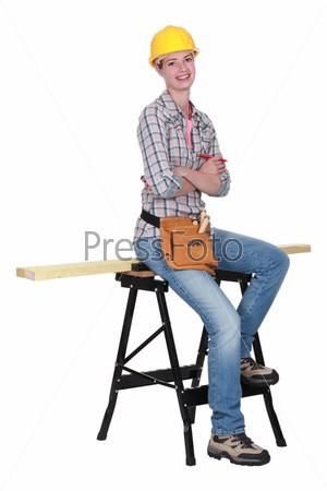Фотография на тему Женщина с рабочей одежде