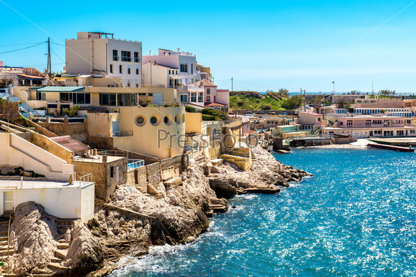 Фотография на тему Вид на побережье Марселя, Франция