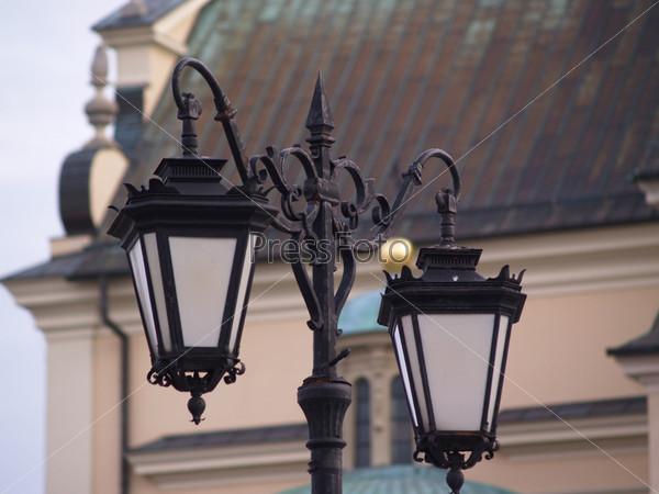 Фотография на тему Варшава, уличный фонарь