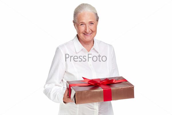 Фотография на тему Женщина с подарком