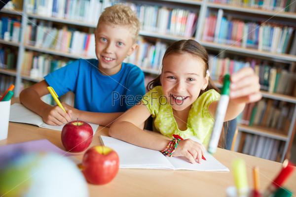 Фотография на тему Одноклассники на уроке