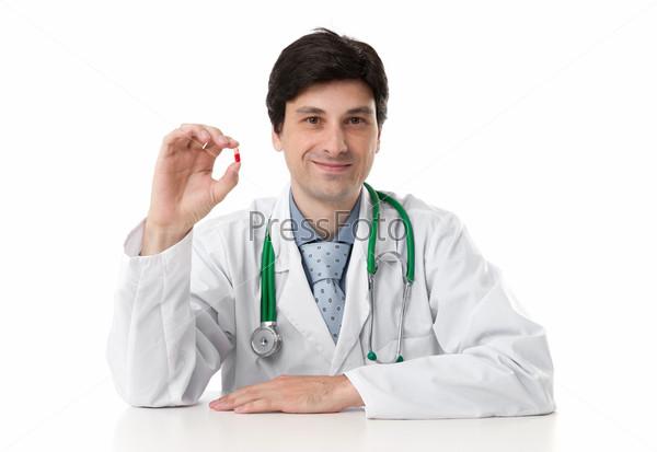 Фотография на тему Доктор показывает таблетки