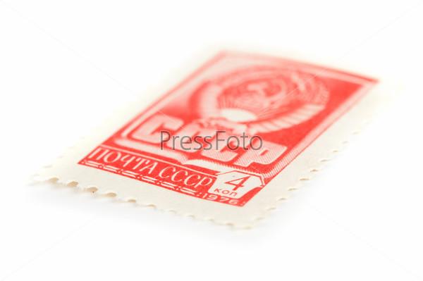 Старая почтовая марка СССР