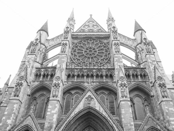 Фотография на тему Вестминстерское аббатство в Лондоне, Великобритания, изолированное на белом фоне
