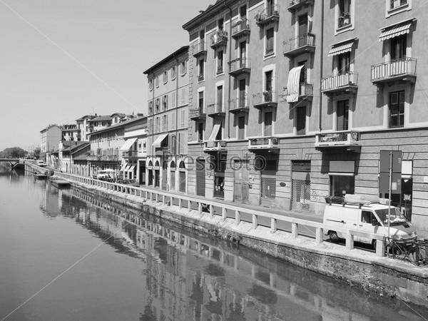 Навильо-Гранде, водный канал в Милане, Италия