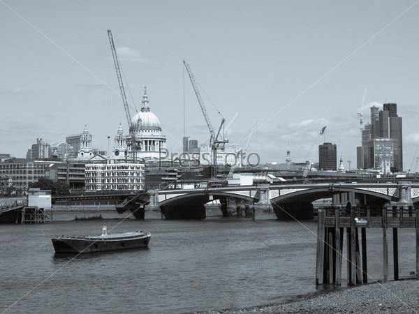 Панорамный вид на Темзу, Лондон, Великобритания