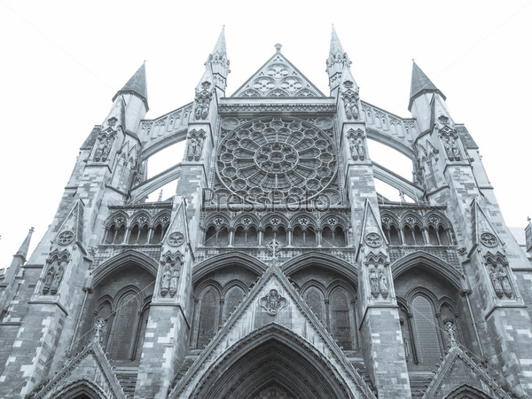 Фотография на тему Вестминстерское аббатство в Лондоне, изолированное на белом фоне
