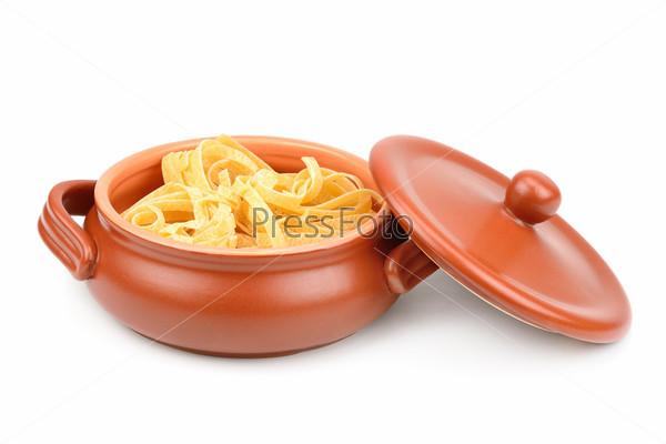 Фотография на тему Спагетти в глиняном горшочке