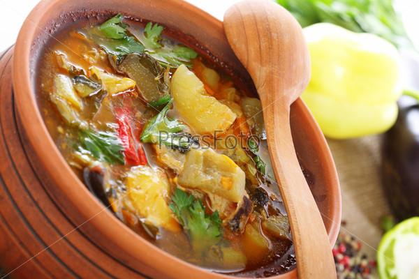 Фотография на тему Рагу из овощей и мяса