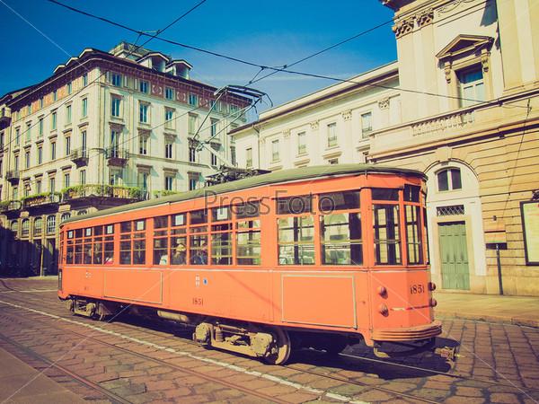 Исторически1 трамвай, Милан, Италия