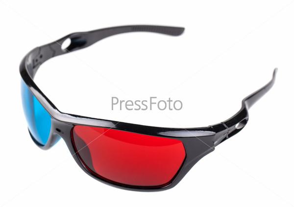 Фотография на тему 3D красно-синие пластиковые очки