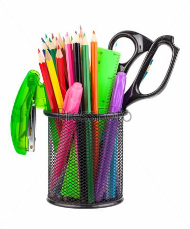 Фотография на тему Офисная подставка с ножницами, карандашами и ручками