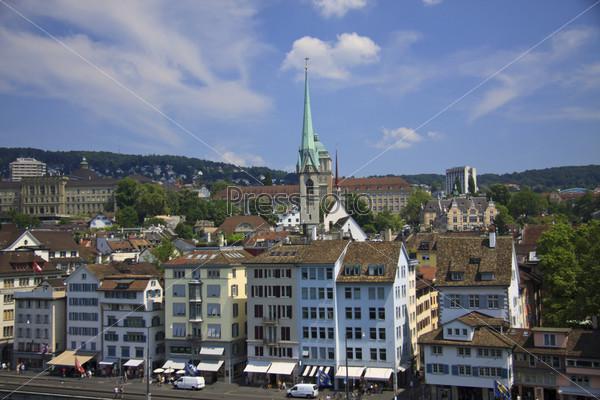 Фотография на тему Вид на Цюрих со смотровой площадки