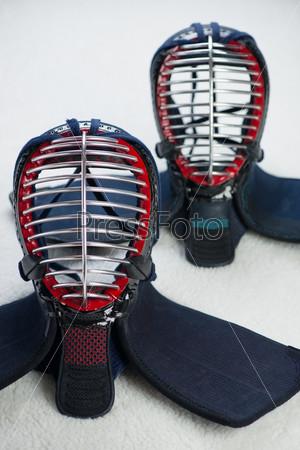 Два шлема для занятий кэндо