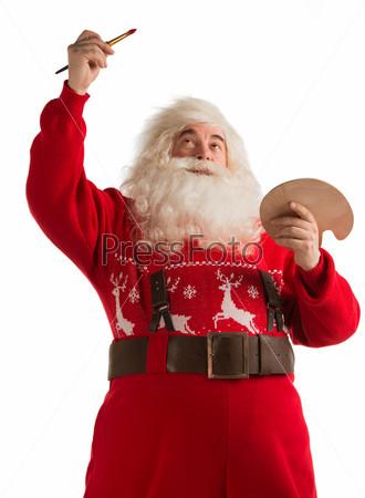 Фотография на тему Санта-Клаус рисует