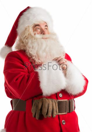 Портрет молящегося Санта-Клауса