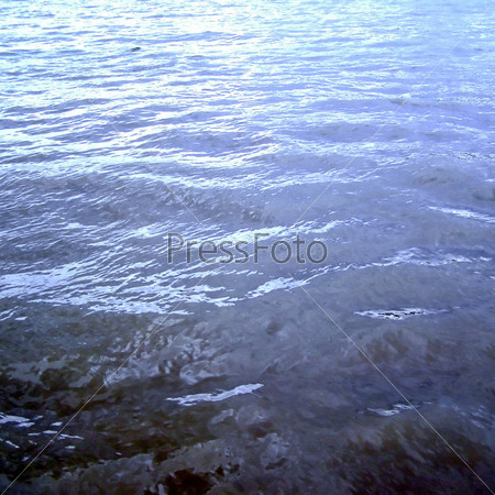 Синяя морская вода, фон
