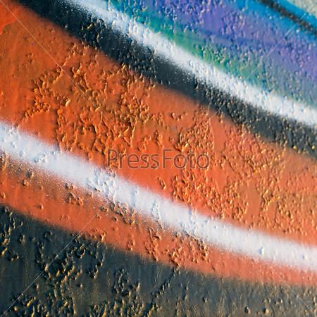 Абстрактные граффити на стене