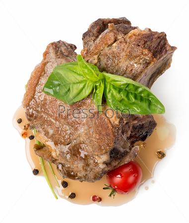 Фотография на тему Жареное мясо с соусом