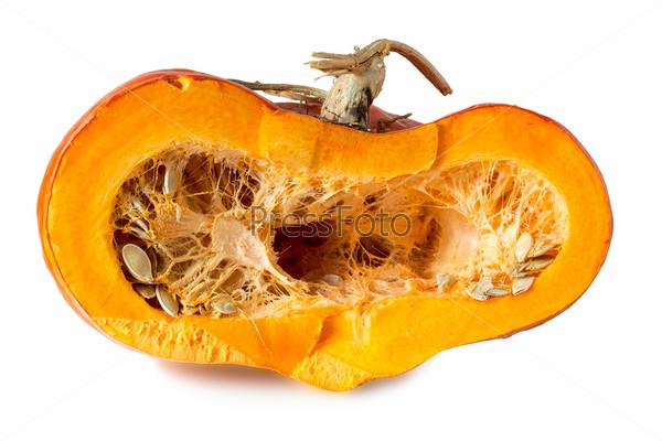 Половина спелой тыквы