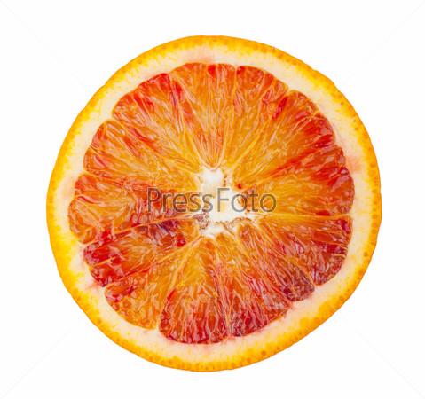 Ломтик кроваво-красного апельсина
