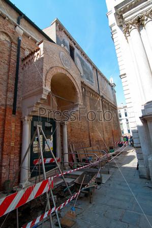 Венеция, Италия, дорожные работы