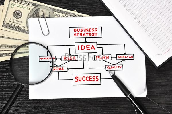 Бумага с бизнес-схемой