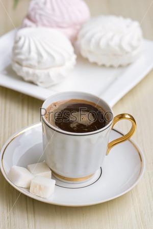 Кофе и сладкий зефир