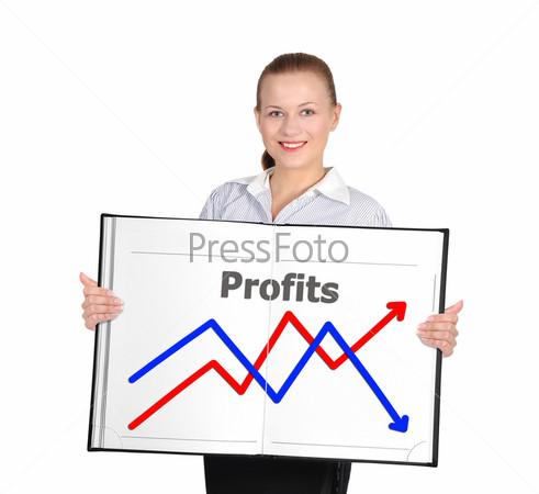 Бизнес-график на табло