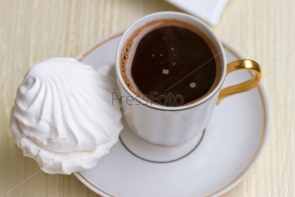 Кофе со сладким зефиром