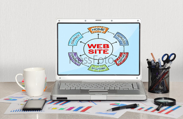 Фотография на тему Схема веб-узла на экране
