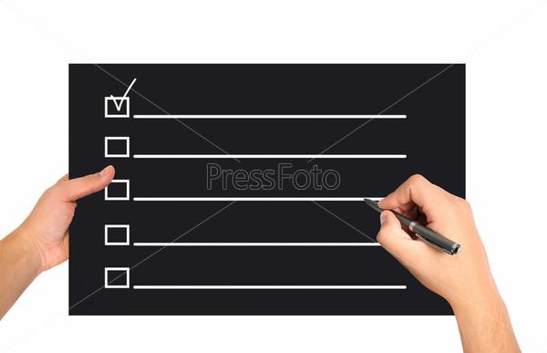 Анкета в бумаге