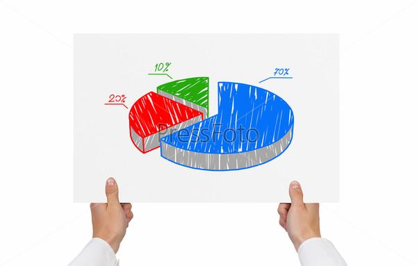 Фотография на тему Бумага с круговой диаграммой