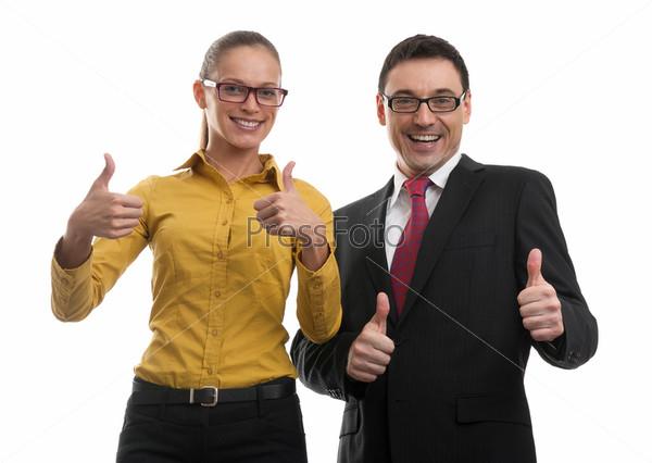 Два счастливый деловых человека