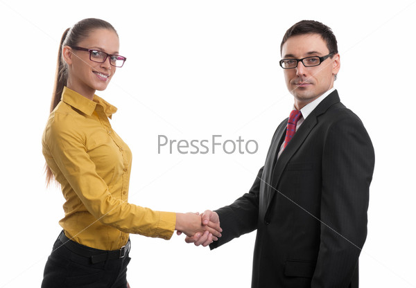 Деловые люди. Рукопожатие