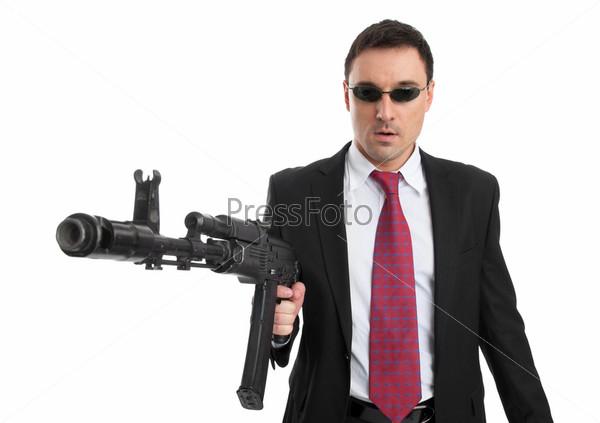 Бизнесмен с оружием
