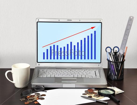 Фотография на тему Ноутбук с схемой