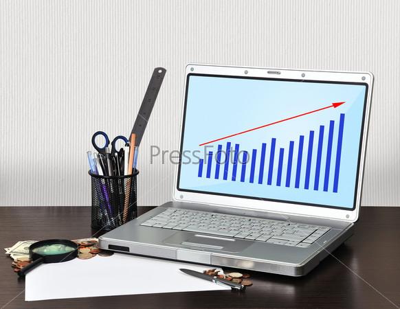 Ноутбук с графиком