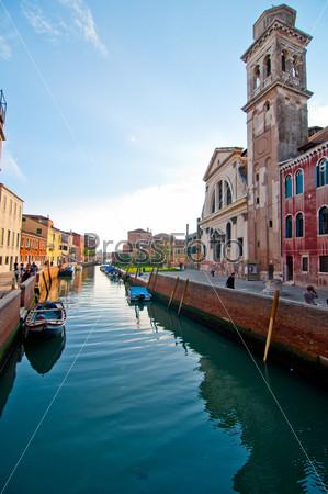 Необычный живописный вид. Венеция. Италия
