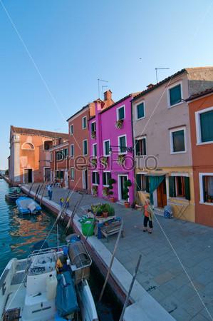Остров Бурано в Венеции, Италия