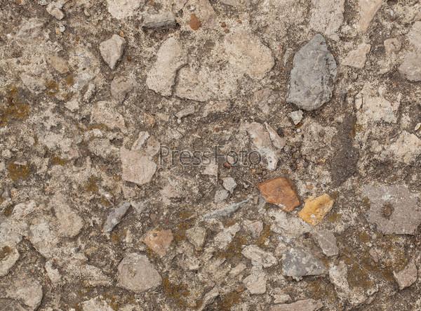 Гранджевая текстура с цементом и камнями
