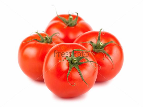 Четыре спелых помидора