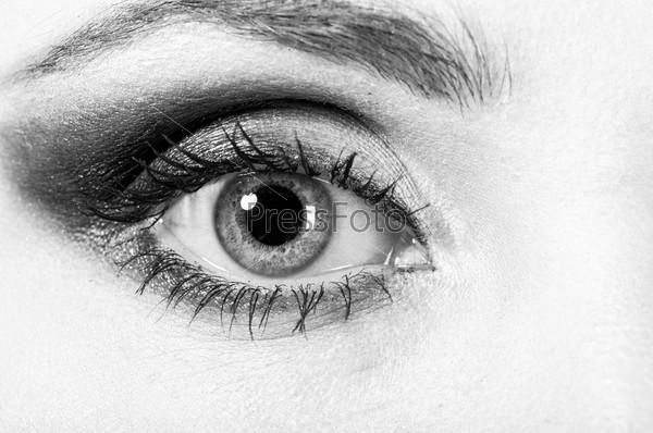 Женский глаз, макро