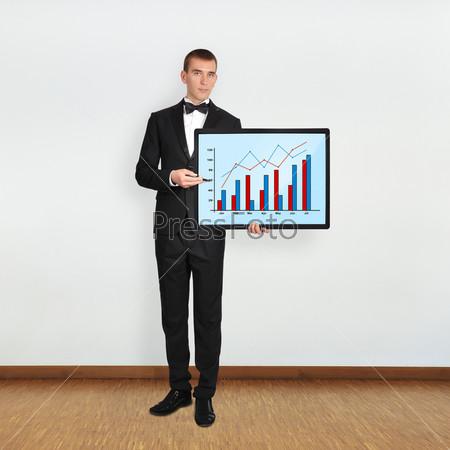Плазменная панель с графиком