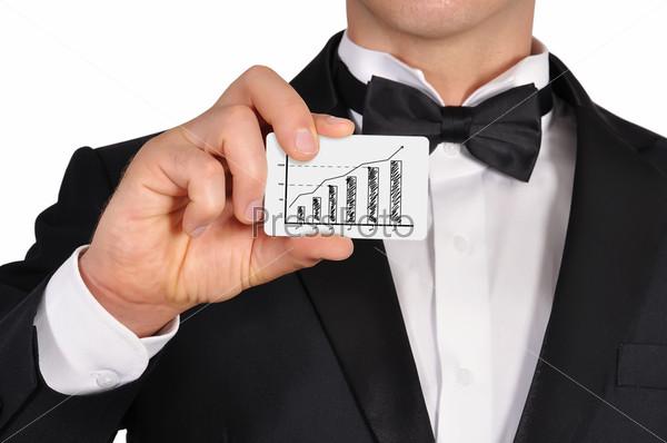 Фотография на тему Визитная карточка с диаграммой