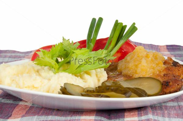 Фотография на тему Картофельное пюре с стейк из свинины