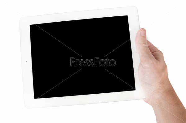 Фотография на тему Белый планшет в мужской руке
