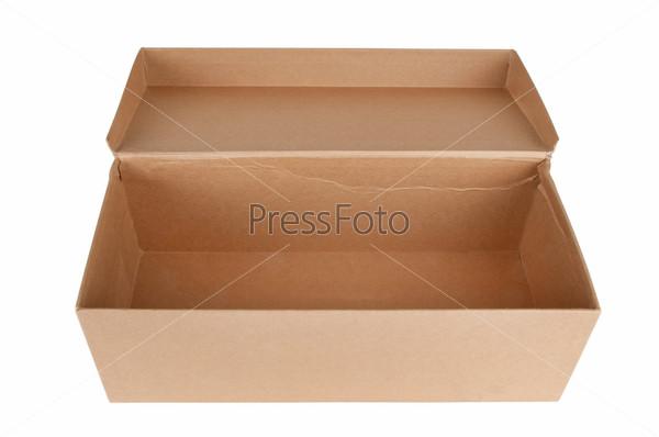 Фотография на тему Открытая картонная коробка, изолированная